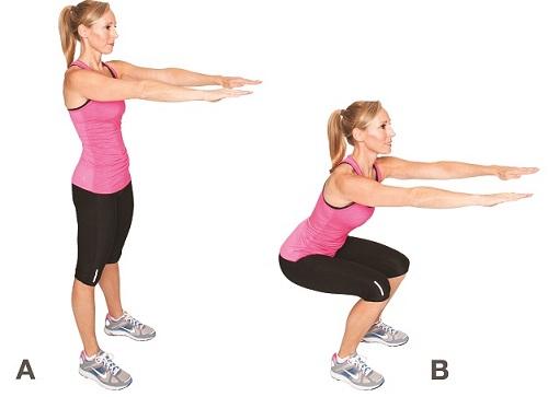 entraînement fonctionnel faire des squats