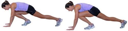 Perdre du ventre avec l'exercice du grimpeur