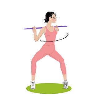 Perdre du ventre avec l'exercice du bâton