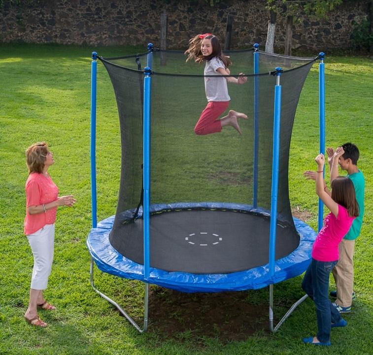 mini trampoline avec filet pas cher
