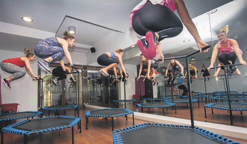 mini trampoline fitness pas cher Amazon